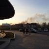 У Омской крепости тушат пожар на картографической фабрике