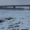 Самым опасным участком на льду Иртыша в Омске назвали линию от Ленинградского моста до отеля «Маяк»