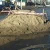 В Омске бетон на путях стал причиной трамвайной пробки