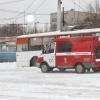 В Омске водитель самостоятельно потушил загоревшийся троллейбус
