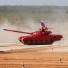 Омские танки  Т-72 участвуют в шоу военной техники