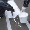 В Омске подрядчик устранит замечания по пластиковой разметке