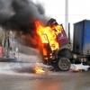 В Омске из загоревшейся фуры с молоком удалось спасти продукцию
