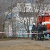 В Омске силовики перекрыли улицу в Нефтяниках