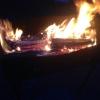 На севере Омской области сгорела баня