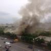 В Омске горел бывший склад Министерства обороны (фото и видео)