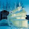 Бензопилой и стамеской создают городские умельцы ледяное великолепие