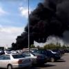 Крупный пожар на территории «Леруа Мерлен» стал причиной черного дыма над Омском