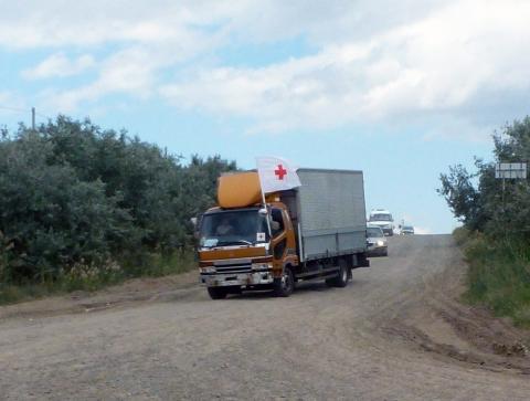 Красный Крест доставил наДонбасс 7 фургонов сгуманитарной помощью