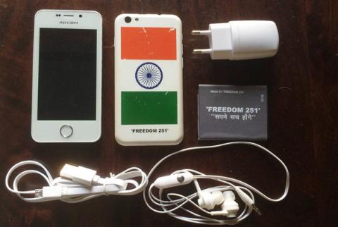 В Российской Федерации  дебютировал индийский смартфон за260 руб.