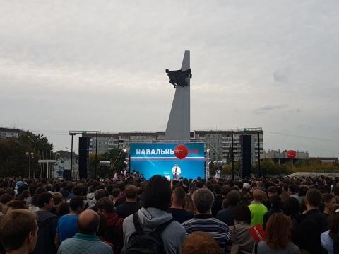 ВОмске намитинг Навального пришло всего 300 человек