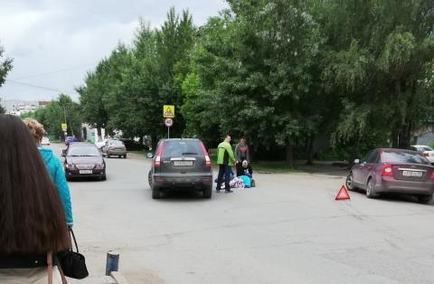 На Левобережье Омска сбили пенсионерку