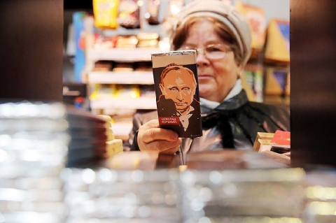 В России начали выпускать шоколад с Путиным