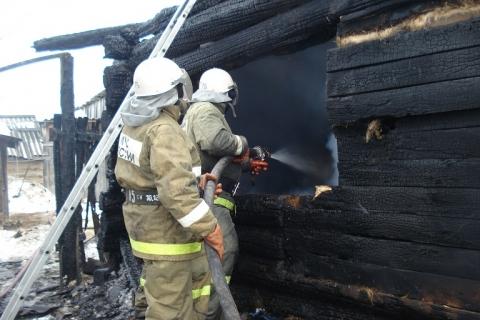 В Омской области сгорели четыре человека