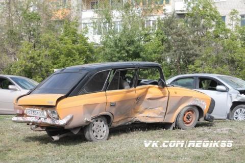 Омская полиция задержала водителя, скрывшегося после аварии