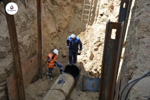 Омский водоканал за лето обновил 14 км водопроводных сетей