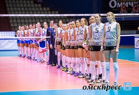 """Волейбольная """"Омичка"""" безоговорочно выиграла спор за второе место в суперлиге"""