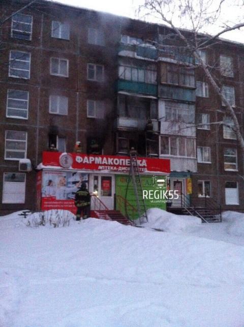 В Кировском округе Омска из-за детских шалостей загорелся многоэтажный дом