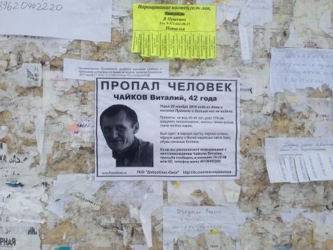 Поиски пропавшего под Омском Виталия Чайкова завершены