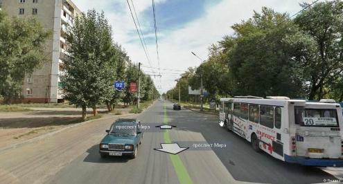 В Омске автобус сбил пенсионерку на проспекте Мира