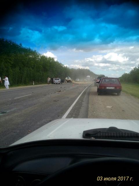 Смертельное ДТП произошло на трассе между Омском и Иртышским (фото)