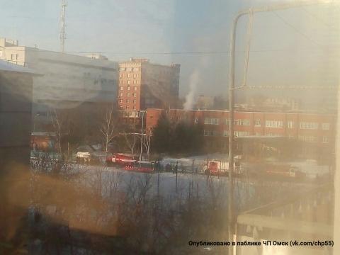 В омской школе №37 случился пожар