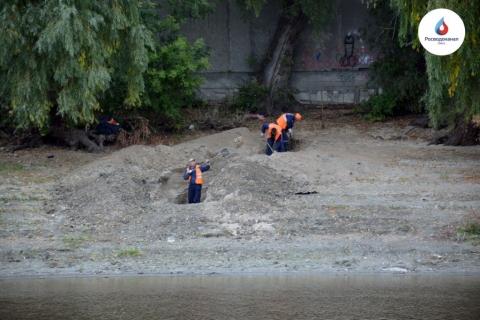Омский водоканал начал ремонт трубопровода на дне реки Омь