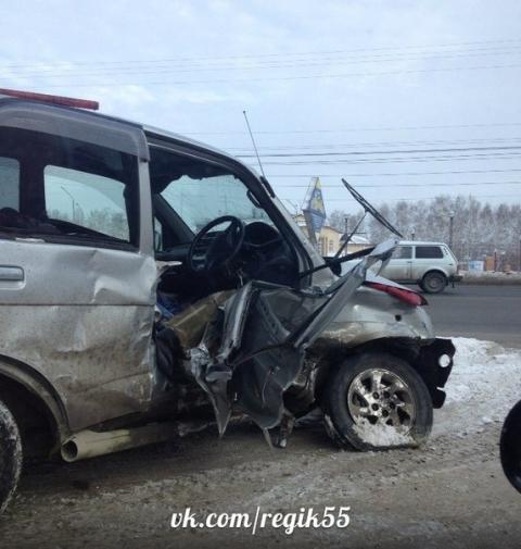 Последствия аварии. Автомобиль Daihatsu