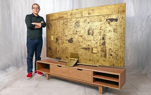 Компания Samsung выпустила золотой телевизор