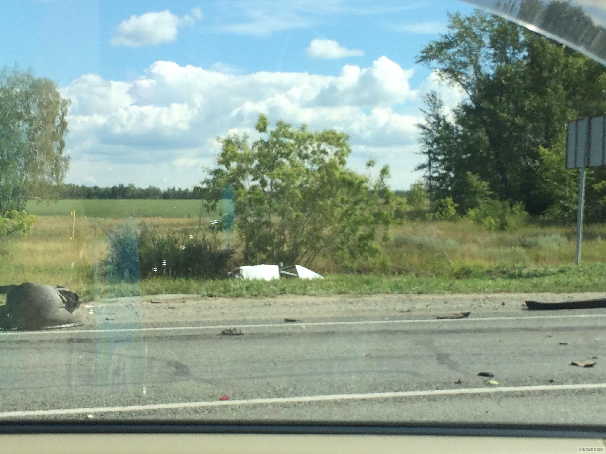 В аварии под Омском погибли 2 человека