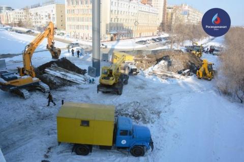 На улице Щербанёва «ОмскВодоканал» заменил участки трубопровода, которые теперь прослужат 50 лет