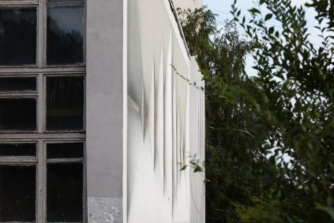 Здание института в Омске украсила оптическая иллюзия