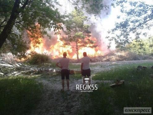 Пожар в парке культуры и отдыха