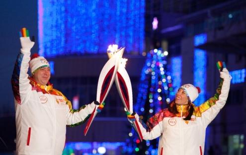 Эстафета Олимпийского огня прибыла к СКК имени Блинова