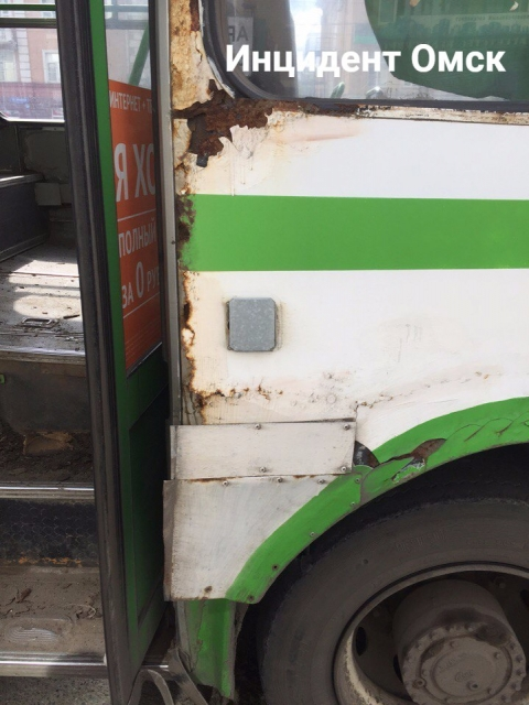 Омичи возмутились состоянием общественного транспорта (фото)