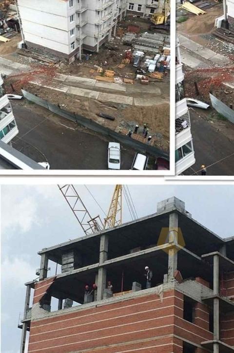 Застройщик дома на Нейбута назвал причину обрушения стены