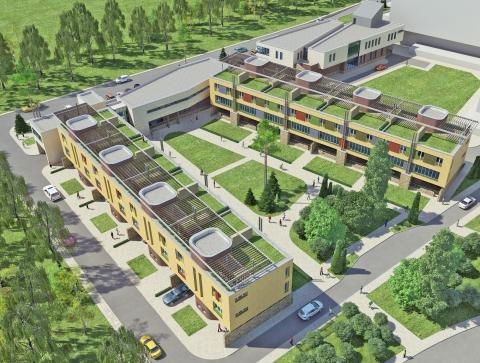 На Левобережье Омска началось строительство нового гостиничного комплекса
