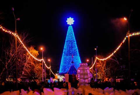 Полная карта всех новогодних и рождественских мероприятий 2017 в Омске