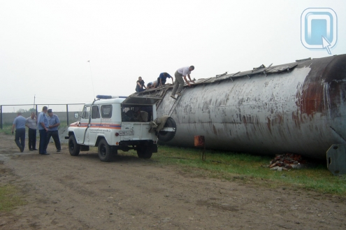 В Русской Поляне при взрыве цистерны погиб работник АЗС