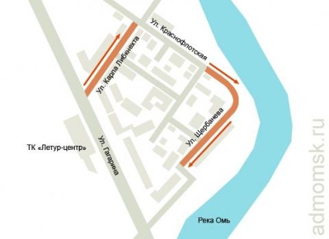 Три улицы в центре Омска станут односторонними из-за стихийных парковок