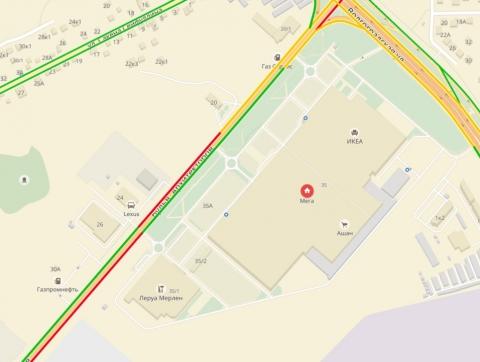 Эвакуация торговых центров привела к пробкам на Левобережье