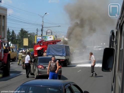 """На площади Ленина сгорела """"ГАЗель"""""""