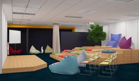 В библиотеке Пушкина появится мини-кинотеатр и кафе