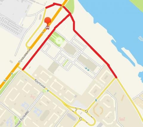 В Омске на 5 часов перекроют улицу Прибрежную и дублер Лукашевича