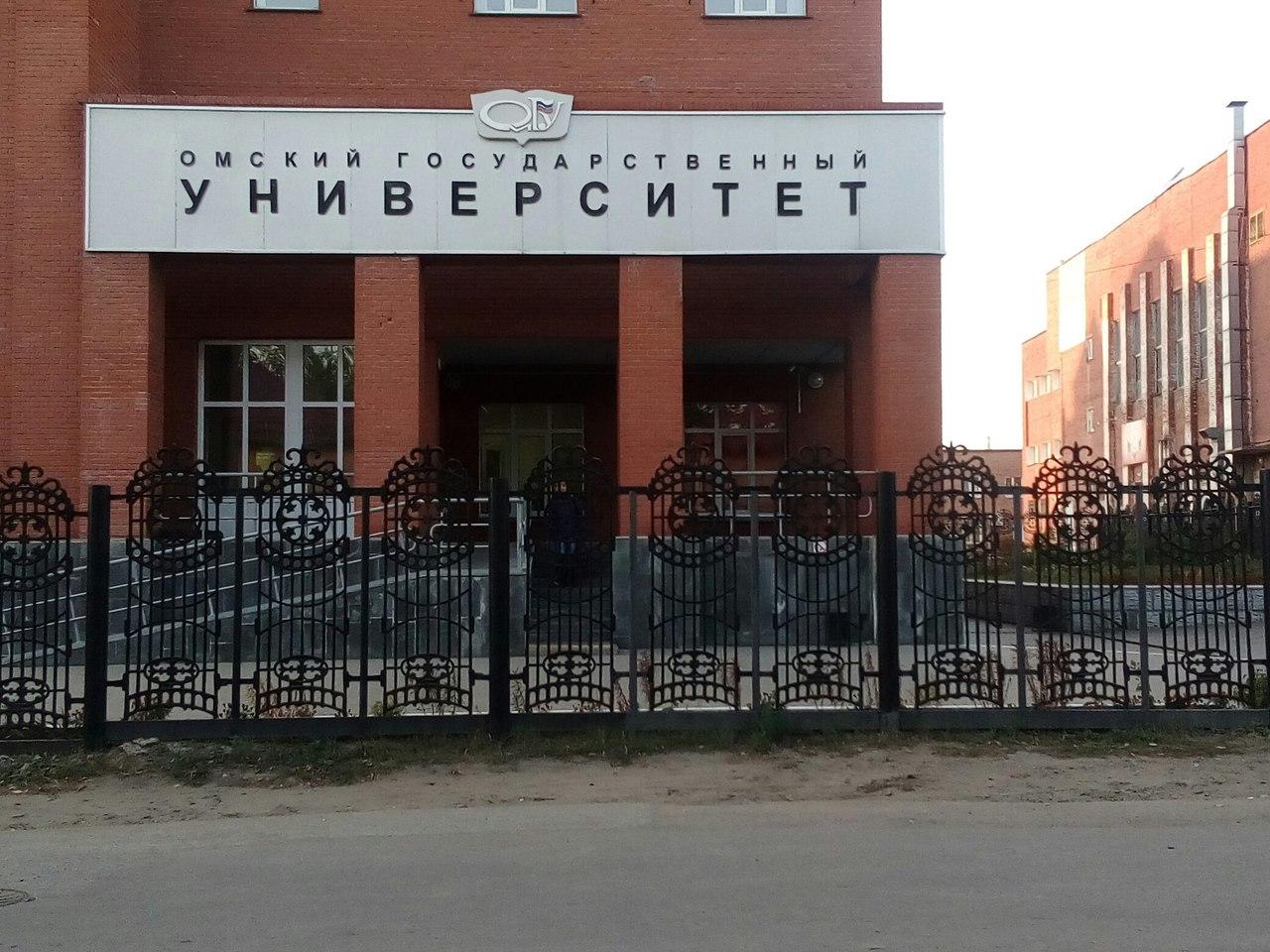 Омские студенты-юристы сделали на тротуаре возле ОмГУ нелегальную парковку