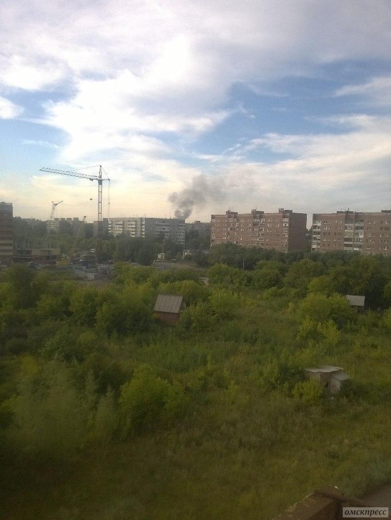 В Советском округе произошел пожар