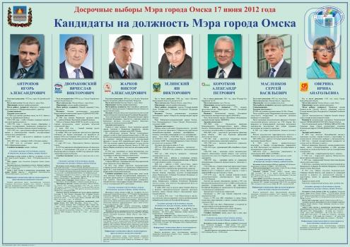 Омичей смутили фотографии кандидатов в мэры