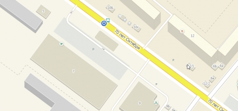 Синей точкой обозначен новый пешеходный переход