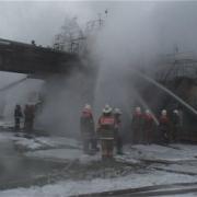 В Омске ликвидировали пожар на шинном заводе