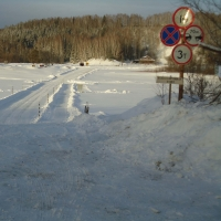 Первая в этом году ледовая переправа открылась в Усть-Ишимском районе Омской области